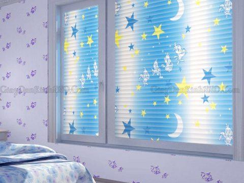 Giấy decal dán kính phòng ngủ