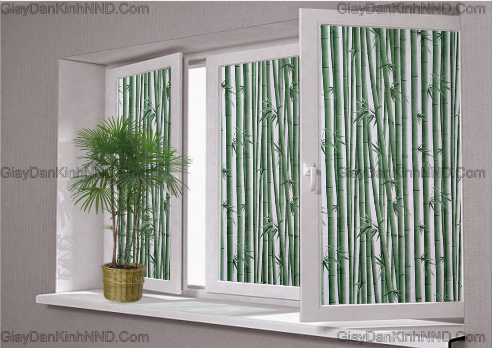 Mẫu dán kính hình cây trúc có khả năng chắn sáng, che tầm nhìn rất tốt và tính thẩm mỹ cũng rất cao