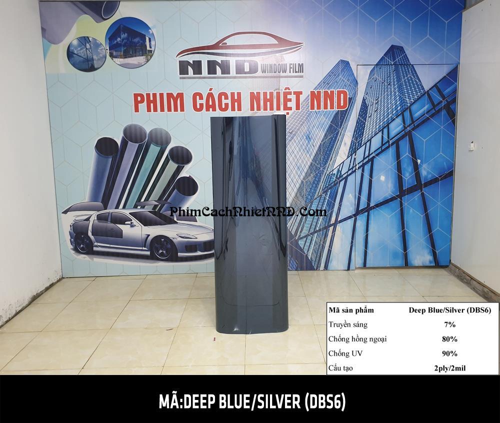 Phim dán kính 3M phản quang một chiều mã Deep Blue Silver (DBS6)