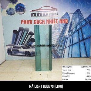 Phim siêu cách nhiệt 3M UV 400 màu sáng xanh mã Light Blue 70 (LB70) có màu trong đứng top 2 trong các mã phim tiêu thụ mạnh nhất Việt Nam