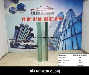 Film dán kính 3M siêu cách nhiệt mã Light Green 65 (LG65) có màu gần như trong suốt và khả năng cách nhiệt siêu cao đạt gần 90%