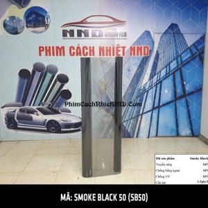 Phim cách nhiệt siêu rẻ màu khói sáng mã Smoke Black 50 (SB50)