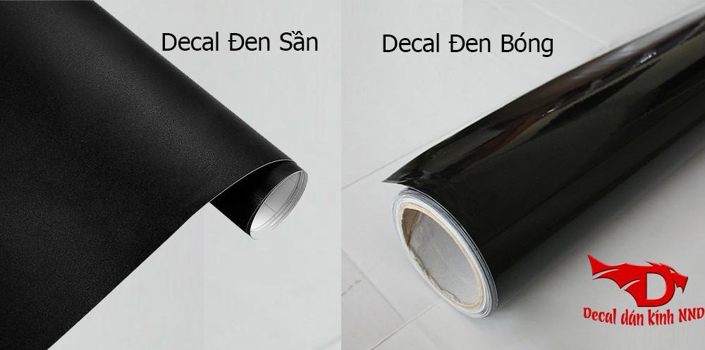 Decal đen kín có 2 loại là đen sần và đen bóng