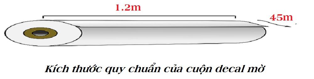 Kích thước quy chuẩn của cuộn decal dán kính mờ