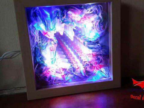 Cách làm gương vô tận bằng decal dán kính phản quang